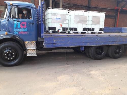 Tereos apoia rede hospitalar com doação de 52 mil litros de álcool