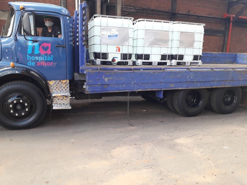 Tereos apoia o sistema hospitalar com doação de 52 mil litros de álcool líquido 70%
