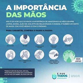 Card a importância das mãos