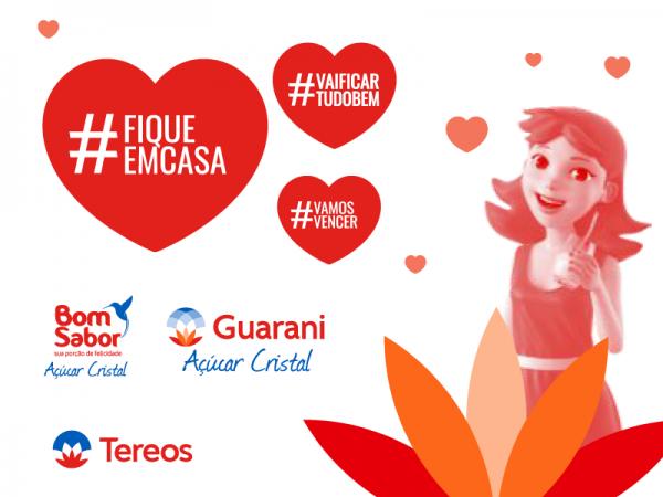 Tereos doa Açúcar Guarani com mensagens de esperança