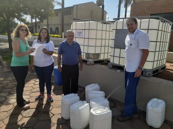 Nardini realiza doações de álcool 70% a hospital do Câncer de Catanduva e Prefeitura