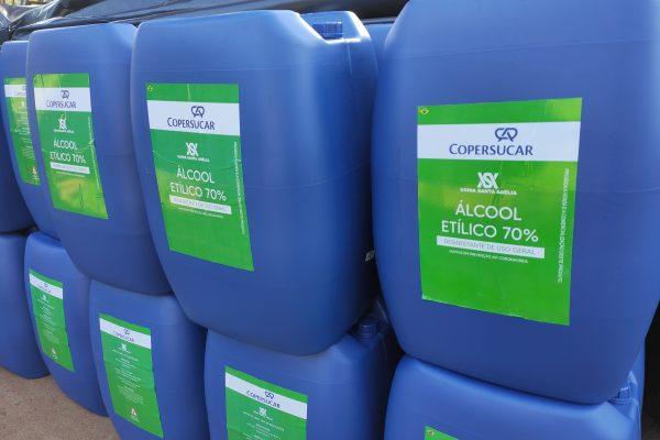 Usina Santa Adélia realiza doações de álcool etílico 70%