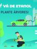 """Card #Vádeetanol """"E Plante Árvores"""" Verde Unica"""