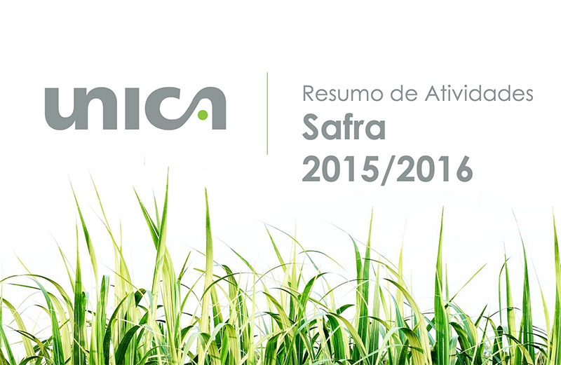 Atividades da UNICA na safra 2015/2016