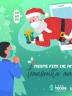 Ilustração De Papai Noel Saindo De Celular E Entregando Presente